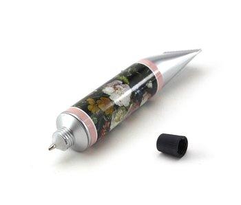 Paint tube Pen, Stil life of flowers, De Heem