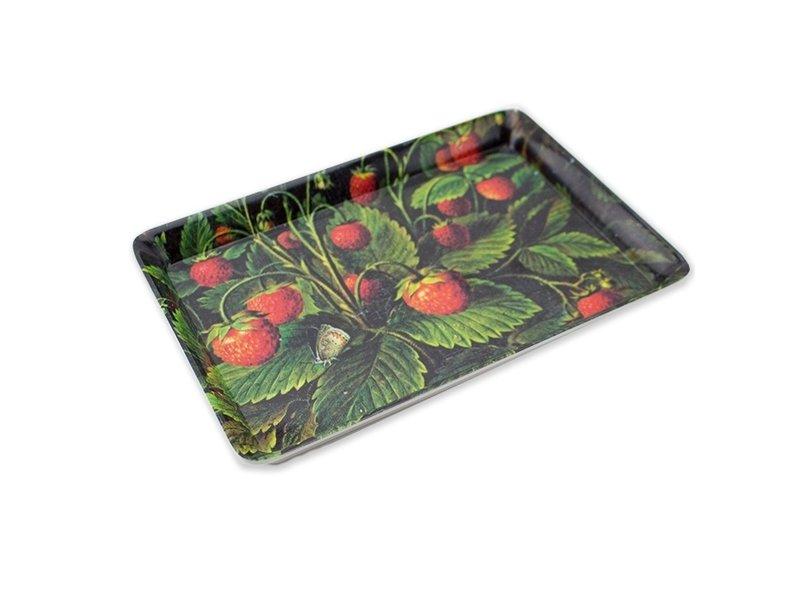 Mini Tablett, 21 x 14 cm, Schlesinger, Erdbeeren
