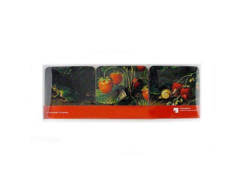 Coasters W, Schlesinger, Strawberries