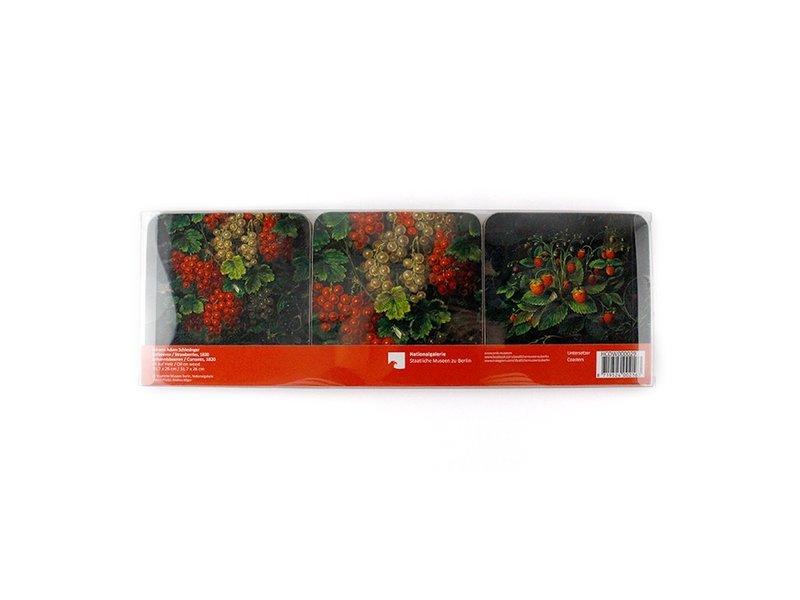 Untersetzer, Schlesinger, Erdbeeren