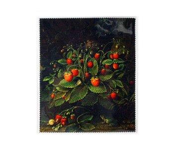 Brillenputztuch , 18 x 15 cm, Erdbeeren, Schlesinger
