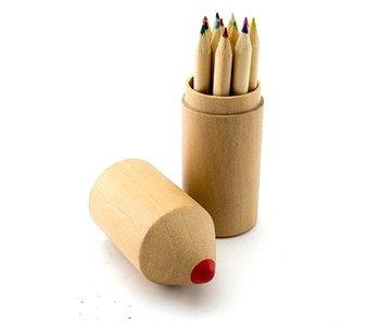 Kleurpotloden set, hout