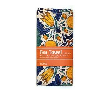 Torchon, tuile d'angle tulipe polychrome