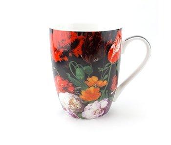 Taza, Florero con flores, De Heem