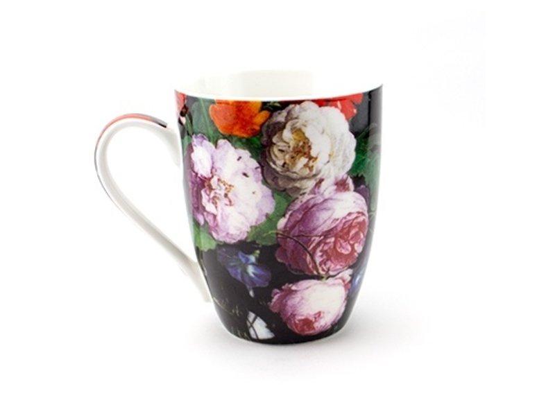 Becher, De Heem, Vase mit Blumen