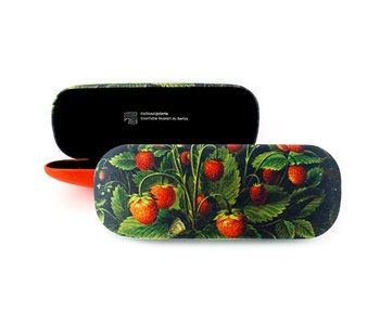 Spectacle Box with lenscloth W, Schlesinger, Strawberries