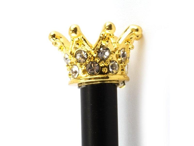 Zwart potlood met gouden prinsessen kroon