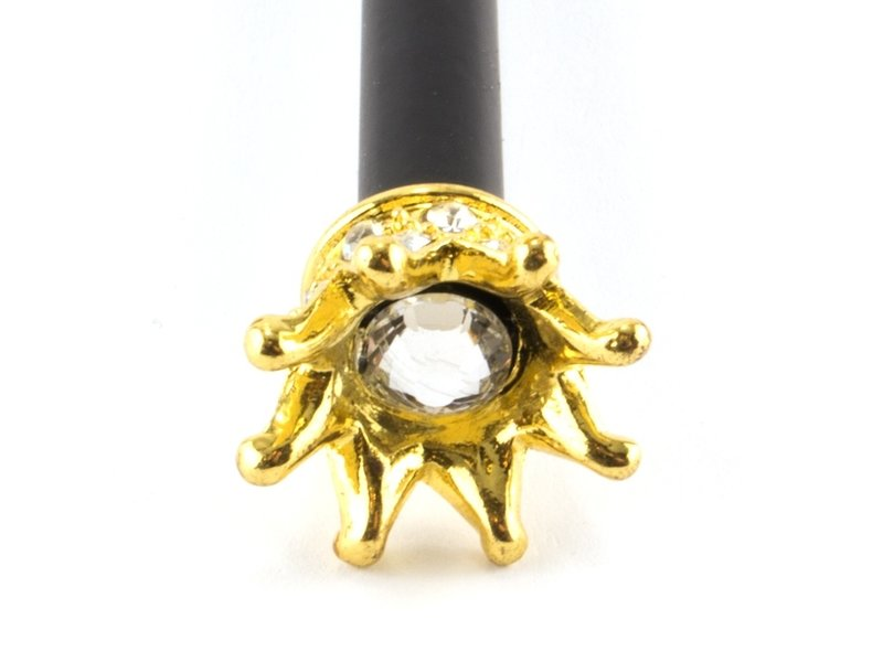 Schwarzer Bleistift mit goldener Prinzessinnenkrone