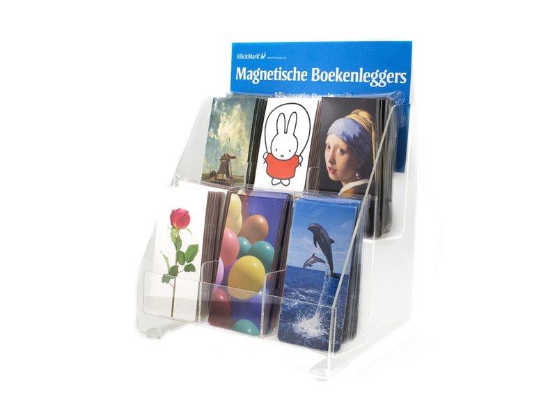 Toonbankdisplay voor Bookmarks, 6 compartimenten