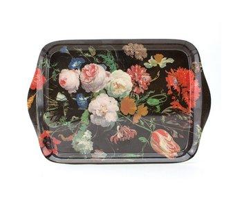 Mini bandeja, 21 x 14 cm, Bodegón de flores, De Heem