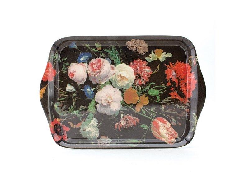 Mini tray, 21 x 14 cm, Flower still life, De Heem