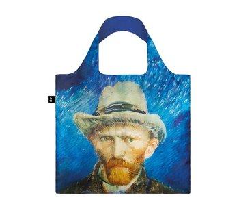 Compradora plegable, autorretrato con sombrero de fieltro gris, Van Gogh