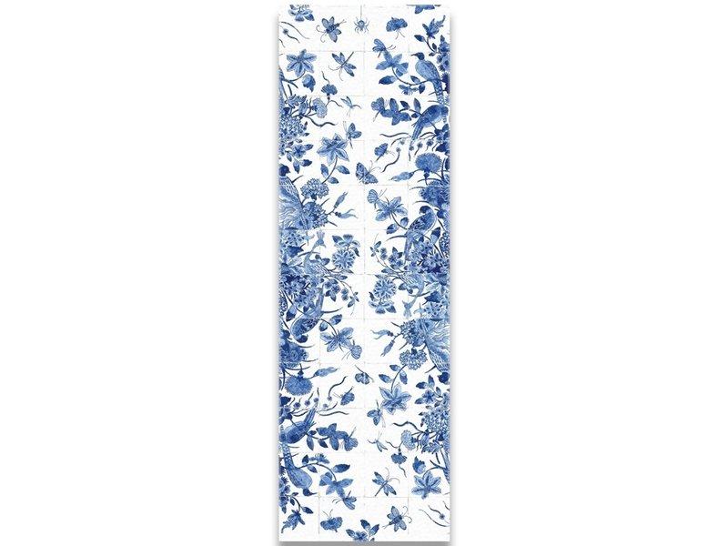 Echarpe, Delft bleu, Oiseaux
