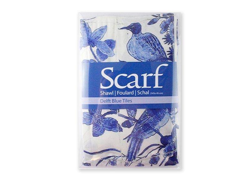 Sjaal, Delfts blauw , Vogels