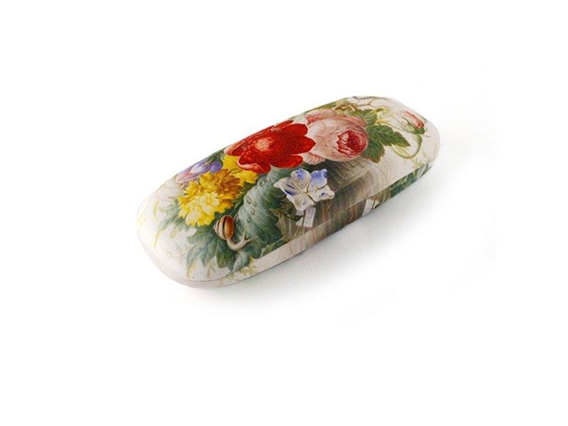 Brillenkoker, Bloemen in glazen vaas , Henstenburgh