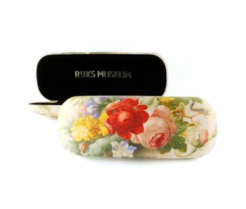 Spectacle case, Flowers in glass vase, Henstenburgh