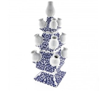 Delft blue tulip vase, 3 layers, 40 cm