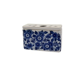 Delfter blaue Tulpenvase, rechteckig