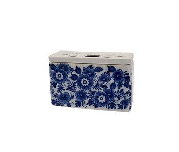 Delfts blauwe tulpenvaas, rechthoek