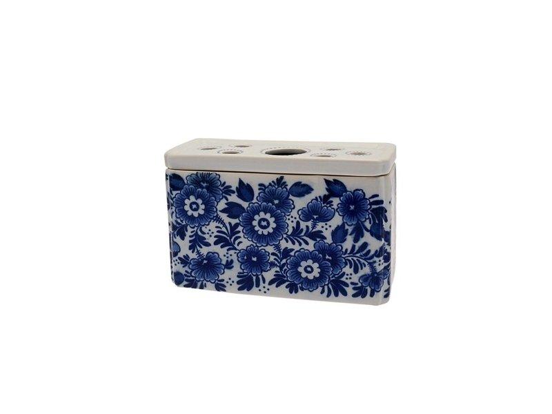 Delft blue tulip vase, rectangular D0309