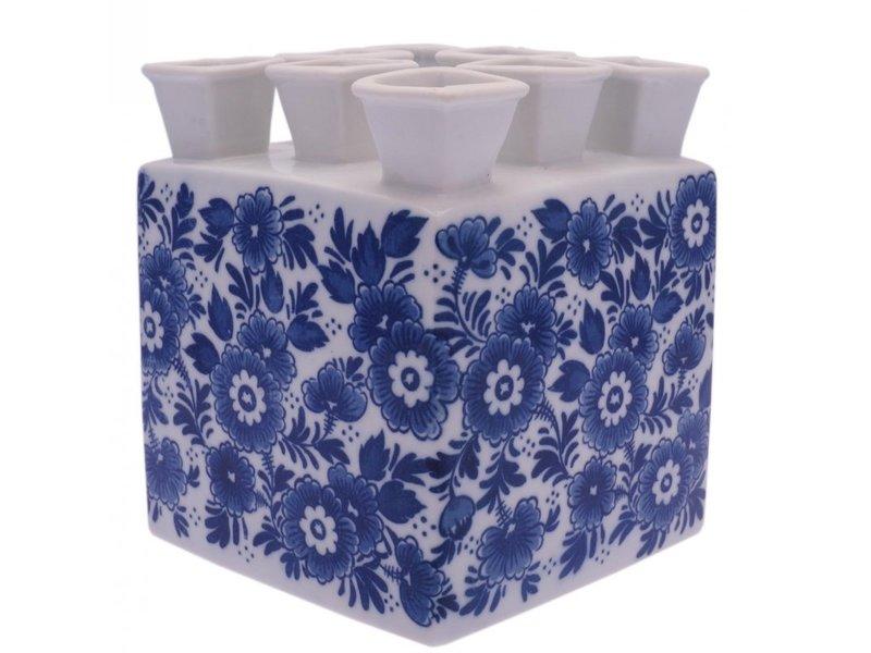 Delft blue tulip vase, square
