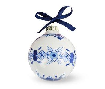 Boule de Noël bleu de Delft, ⌀ 7 cm