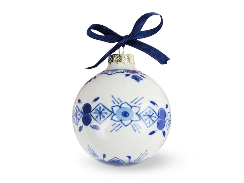 Delfter blaue Weihnachtskugel, ⌀ 7 cm
