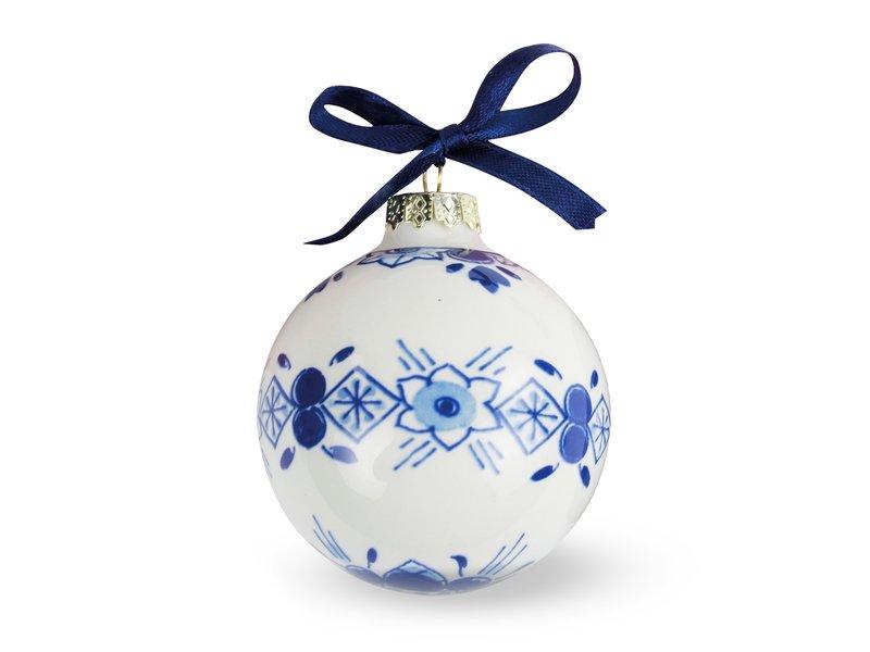 Delfts blauwe kerstbal, ⌀ 7 cm