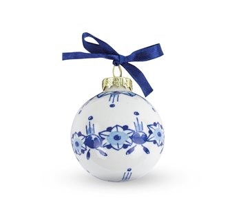 Adorno navideño azul de Delft, ø 5 cm