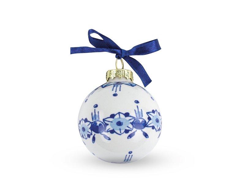 Delfts blauwe kerstbal, ø 5 cm