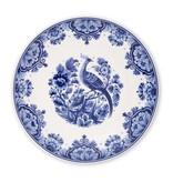 Delft blue plate, ø 24 cm Bird on branch