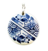 Delfts blauw | medaillon | streep