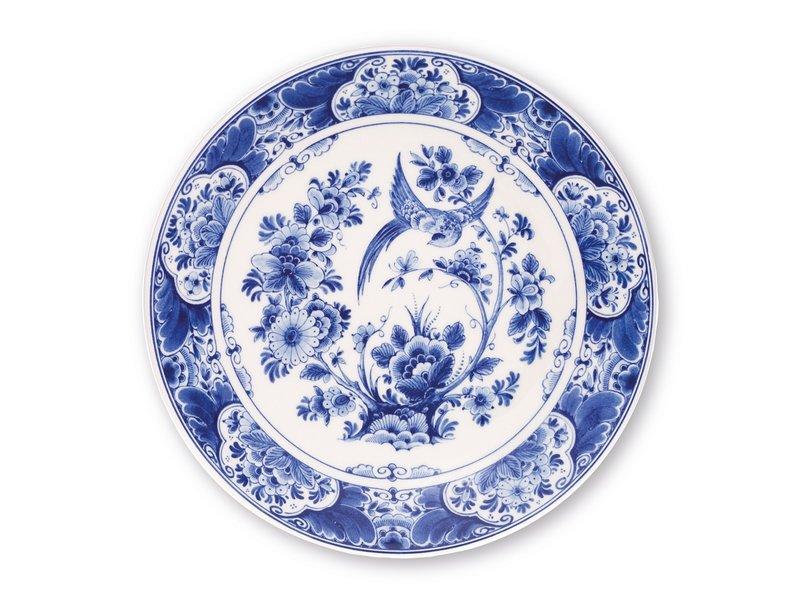 Delfter blauer Teller, ø 24 cm Vogel