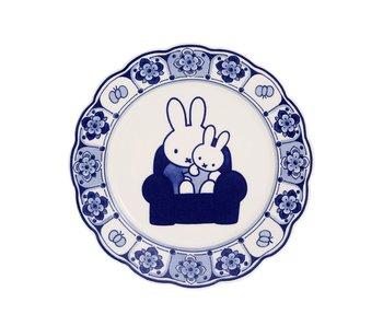 Delft blue plate. 22cm Miffy