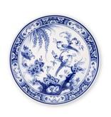 Delfts blauw bord, ø 20 cm, Vogel