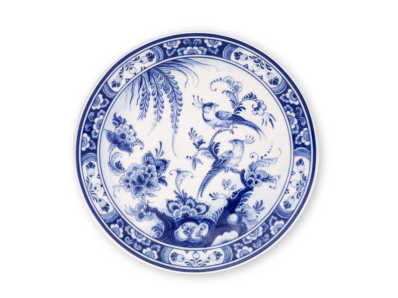 Delft blue plate. 20 cm Bird