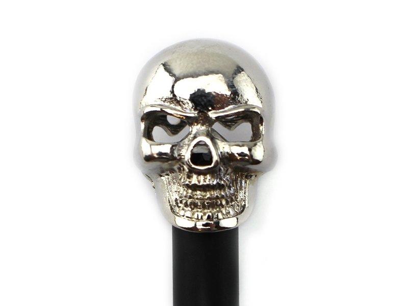 Black pencil, silver colored skull