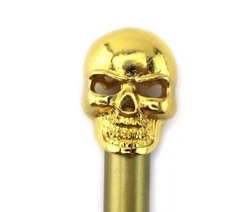Goudkleurig potlood met gouden doodshoofd