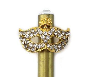 Goudkleurig potlood , gouden masker