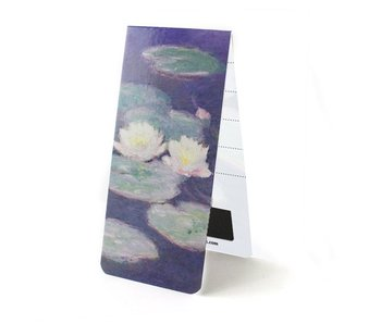 Magnetic bookmark, Monet, Water Lilies in evening light