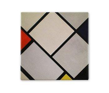 Aimant pour réfrigérateur, composition losange, Mondrian