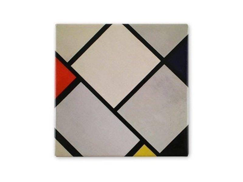 Kühlschrankmagnet, Rautenkomposition, Mondrian