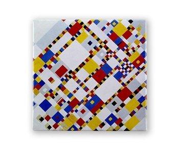 Imán de nevera, Victoria Boogie Woogie, Mondrian