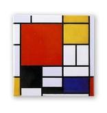 Imán de nevera, Composición con gran área roja, Mondrian