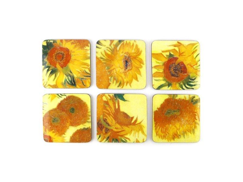 Onderzetters, Zonnebloemen, Van Gogh