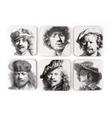 Coasters W, Selfportraits, Rembrandt