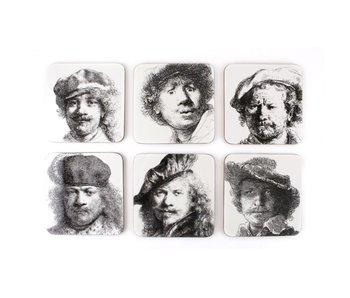 Posavasos, Autorretratos, Rembrandt