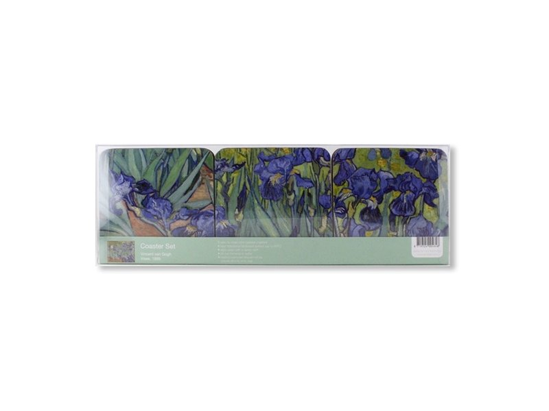Dessous de verre, Iris, Van Gogh