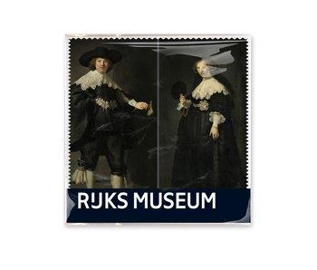 Brillenputztuch , 15 x 15 cm, Marten en Oopjen, Rembrandt