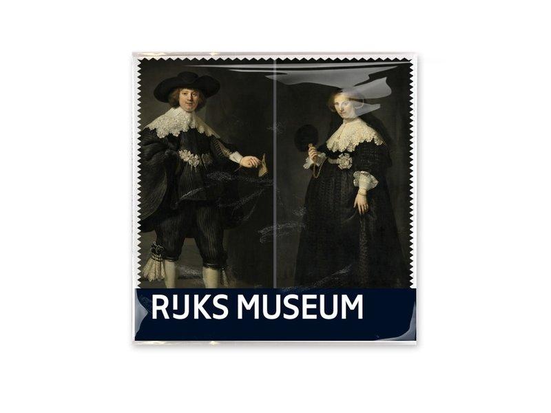 Linsentuch, 15 x 15 cm, Marder und Oopjen, Rembrandt